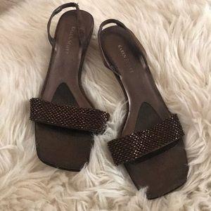 beautiful beaded Karen Scott heels